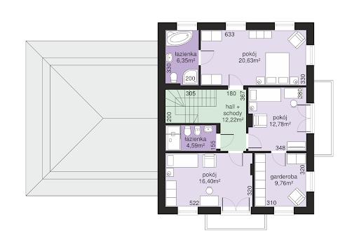 Dom przy Diamentowej - Rzut piętra