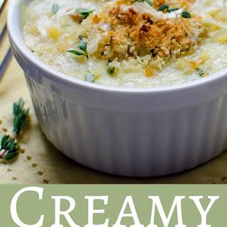 Creamy Chayote Gratin.