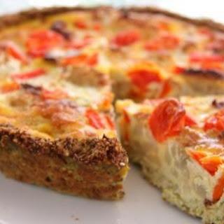 Cauliflower and Walnut Crust Quiche