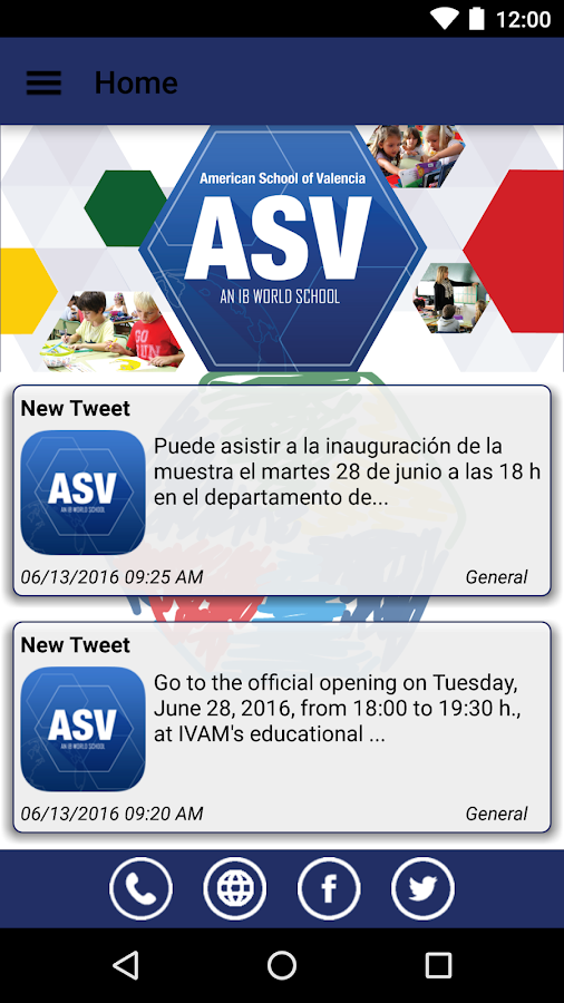 American School of Valencia- screenshot