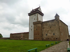 Photo: Narva Castle is situated by the Narva River.