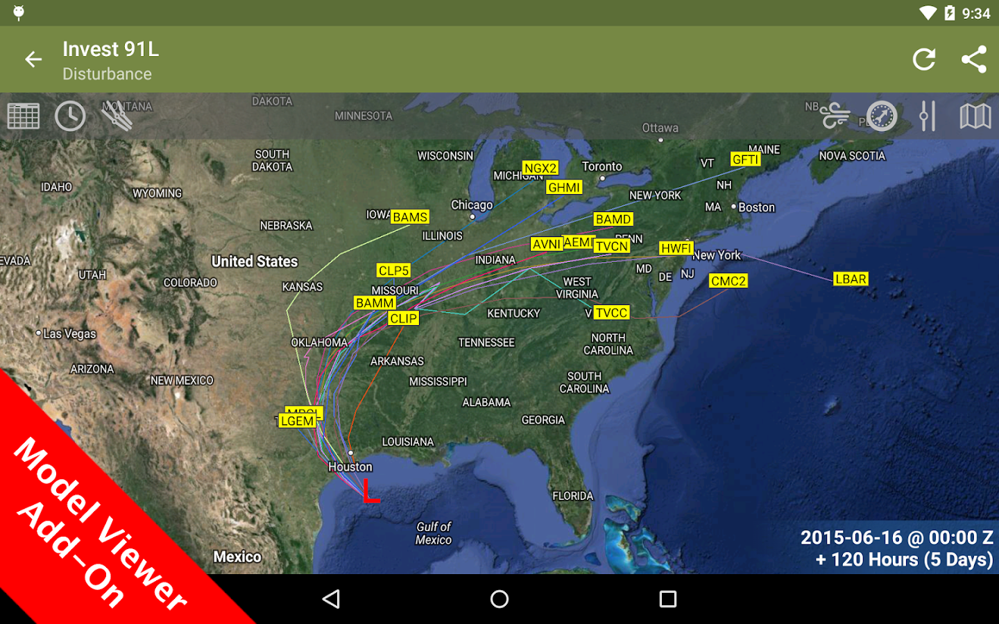SeaStorm Hurricane Tracker- screenshot