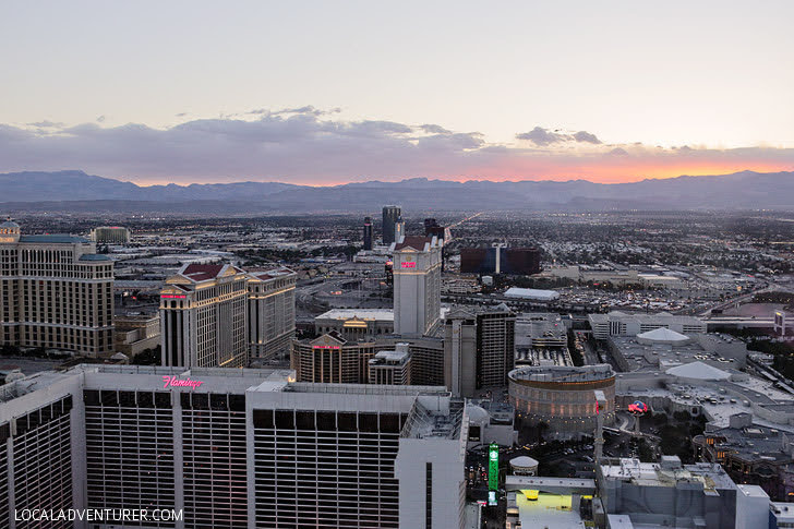 Sunset on the High Roller Las Vegas - Best Views in Las Vegas.