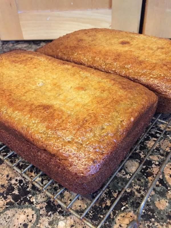 Mimi's Banana Bread Hot From The Oven.