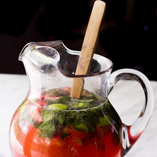 Pitcher Strawberry Mojitos.
