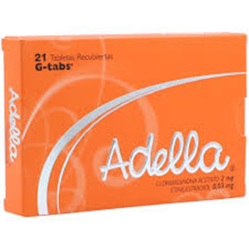 Clormadinona + Etinilestradol Adella 2mg/0,03mg x 21 Tabletas