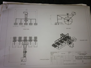 Photo: Schematic diagram of the weeder designed by a student at UUM.