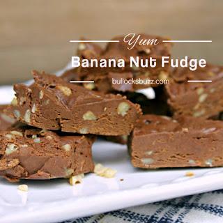 Banana Nut Fudge - Homemade