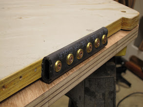 Photo: Testing a friction device on a mockup centerboard
