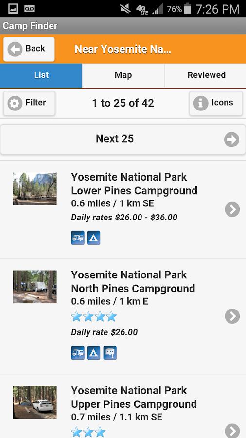 Camp Finder - Campgrounds - screenshot