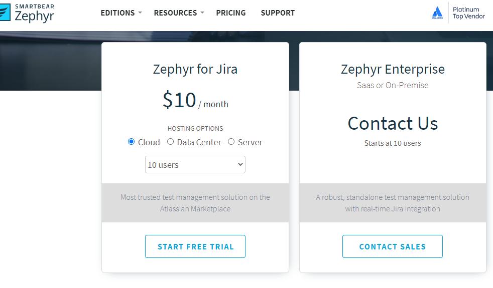 smartbear-zephyr-subscription-options