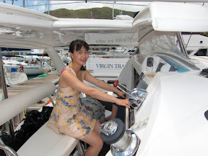 Photo: XiaoQin in the cockpit of The Escape