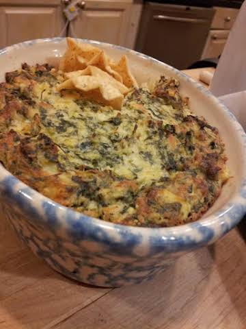 Spinach Artichoke dip- that can't be beat!