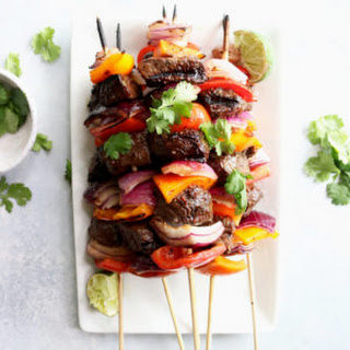 Grilled Pepper + Steak Kabobs.