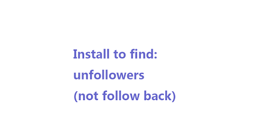 Unfollowers for Instagram,lost for PC