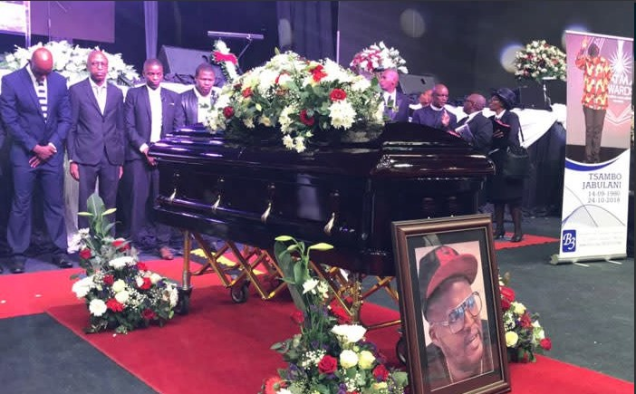 Rapper HHP was laid to rest on Saturday amid a bitter feud between his family and customary wife, Lerato Sengadi.