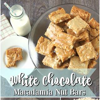White Chocolate Macadamia Nut Bars.