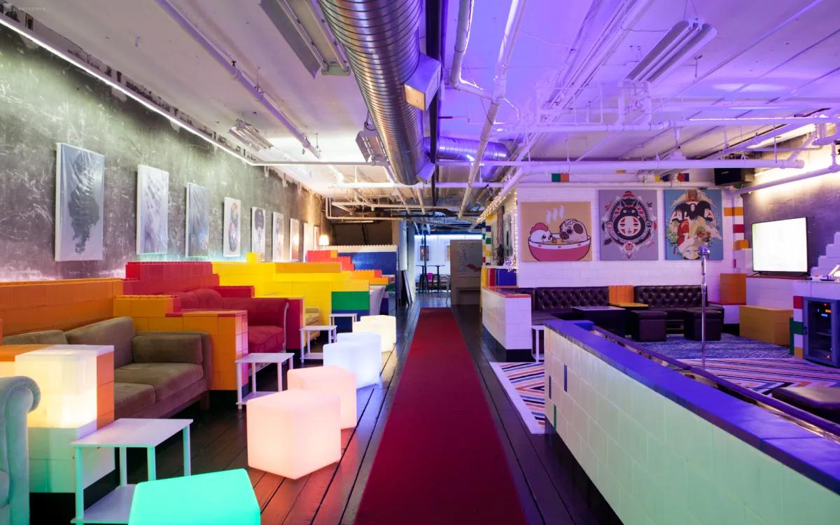 colorful pike's peak studio indoors Seattle