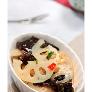 【Lotus Root with Hot Pepper Sauce】