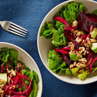 Beet and Escarole Salad with Avocado and Walnuts