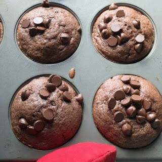 Delicious Double Chocolate Muffins.
