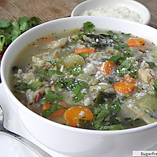 Crock Pot Turkey Kale Rice Soup.