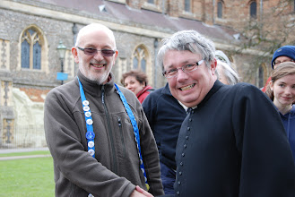Photo: Peter Blackmore has been an Easter Monday Pilgrim for 40 years; the Archdeacon of Bedford for 42