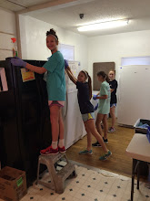 Photo: Lake Pointe DNow Youth ROCK!  Cleaning the Good Sam house top to bottom!