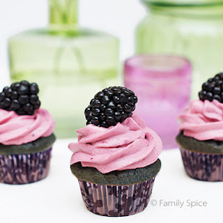 Blackberry Cupcakes with Honey