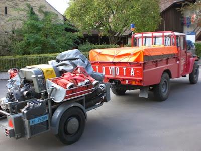 Schlauchverlegefahrzeug (alt) mit Motorspritze MS