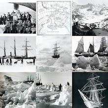 Photo: collage ( nov 2008) de la expedición a la Antártida de Shackleton en 1914