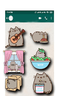 1000+ Pusheen stickers for Whatsapp - náhled