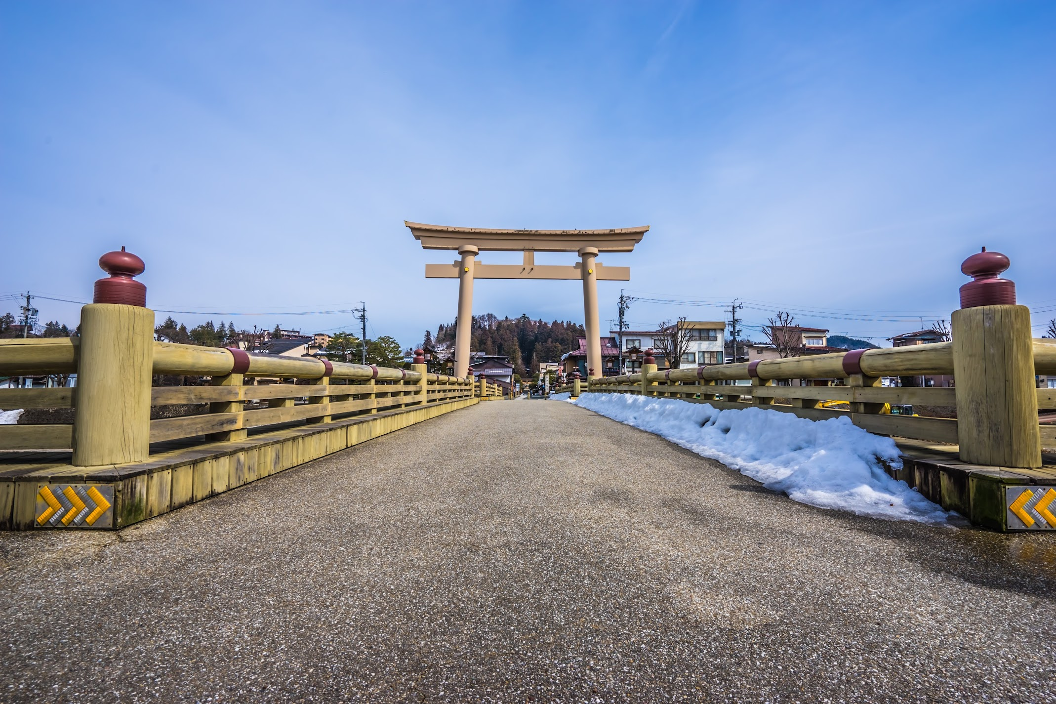 Hida Takayama Sakurayama Hachimangu Shrine Torii