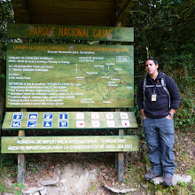 Photo: Our guide, Adrian, age 22, explains the park and our route