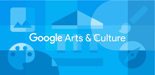 Google Arts & Culture - blue background