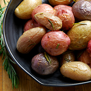 Roasted Fingerling Potatoes with Rosemary.