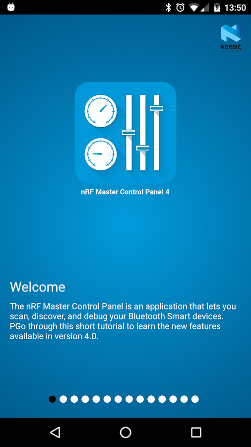nRF Master Control Panel (BLE)- screenshot