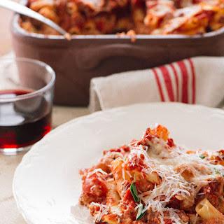 baked ziti cheese ricotta ground beef sausage italian recipes