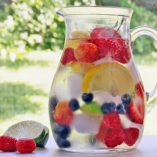 Rainbow Infused Water Pitcher.