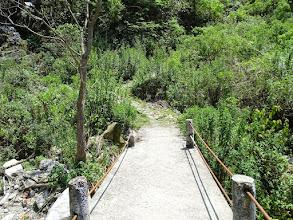 Photo: The rickety bridge after the steep climb