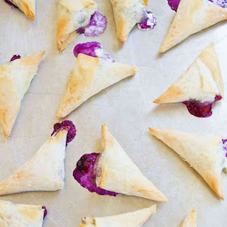 4-Ingredient Blueberry Goat Cheese Phyllo Turnovers Recipe