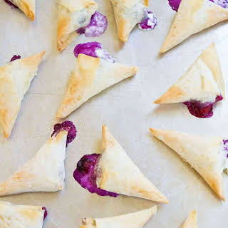 4-Ingredient Blueberry Goat Cheese Phyllo Turnovers.