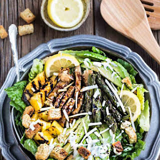 Pineapple Teriyaki Chicken Caesar Salad.