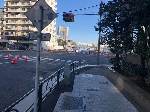 開業前の駅前道路
