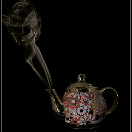 Smoking tea pot by Christa Koekemoer - Artistic Objects Other Objects