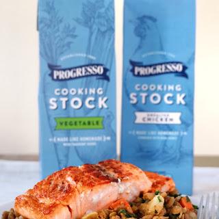 Seared Salmon & Veggieful Lentils