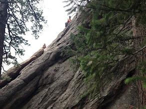 Photo: Downclimbing Stairway to Heaven with Dan Mottinger
