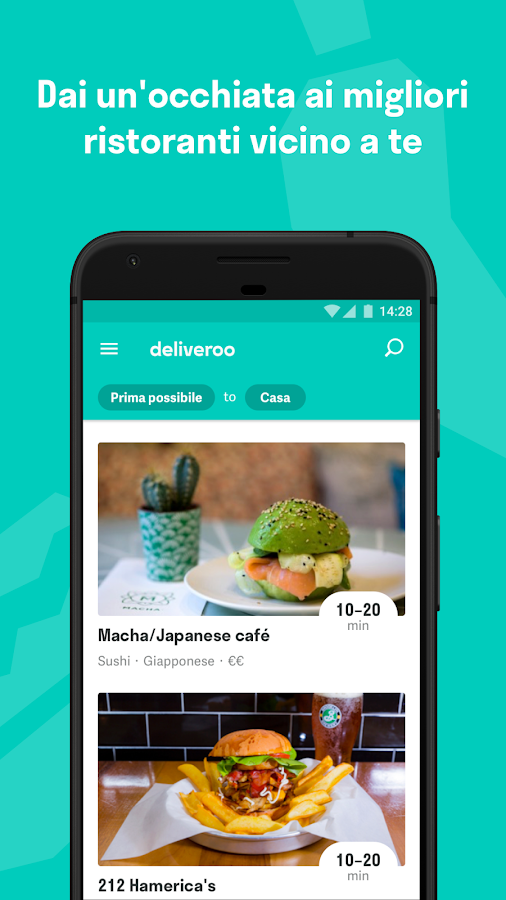 Deliveroo - Cibo a Domicilio- screenshot