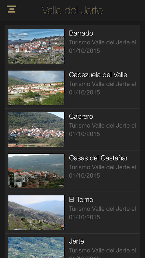 Turismo Valle del Jerte- screenshot