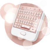 Rose Gold Keyboard Theme Android APK Download Free By Powerful Phone